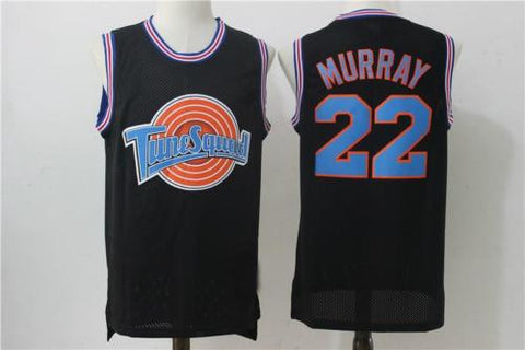 Bill Murray #22 Tune Squad BLACK Jersey Space Jam Basketball Movie Size S-XXL