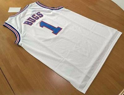 Bugs Bunny Jersey #1 Tune Squad WHITE Space Jam Basketball Movie Size S-XXL