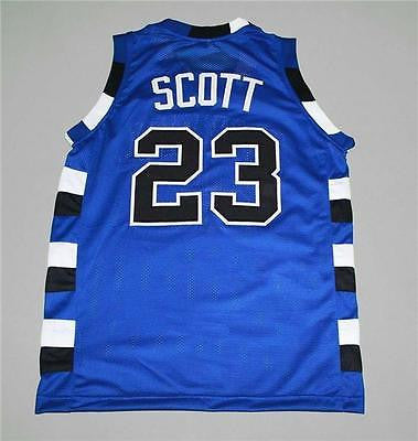 Nathan Scott #23 One Tree Hill Ravens Movie Basketball BLUE SEWN Jersey S-XXL