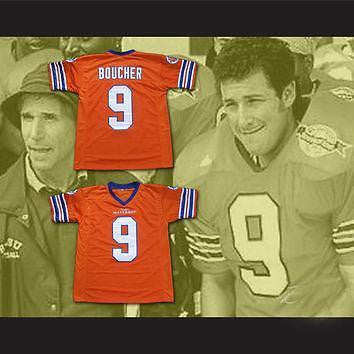 Bobby Boucher #9  THE WATERBOY FOOTBALL JERSEY Adam Sandler MOVIE M-3XL ORANGE