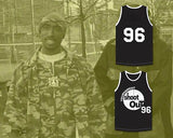 Above The Rim Tupac Shakur #96 Birdie Shoot Out Black Basketball Stitched Jersey S-3XL