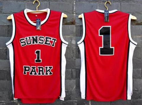 Shorty #1 Fredro Starr Sunset Park Stitched Red Jersey Movie Basketball S-XXL