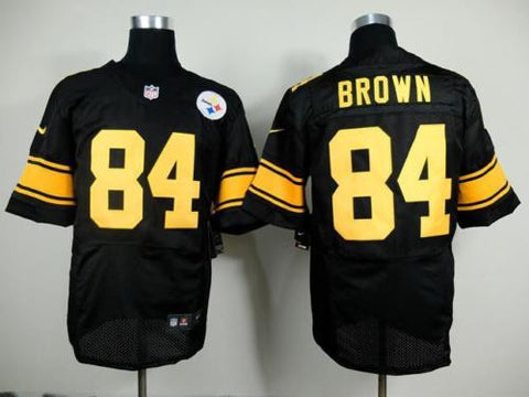 Antonio Brown #84 Pittsburgh Steelers Football Jersey Stitched Black M-3XL