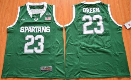 New Michigan State Spartans #23 Draymond Green College Basketball Jersey S-XXL