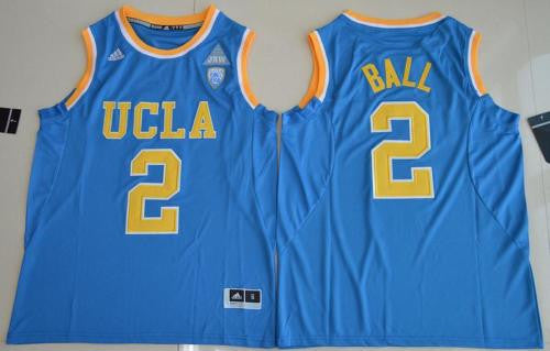 New UCLA Bruins #2 Lonzo Ball Blue Men's Basketball Jersey S - XXL