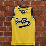 Biggie Smalls Bad Boy #72 Notorious BIG Basketball yellow Jersey Stitched S-XXL