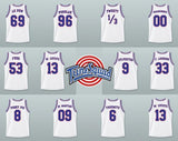 Space Jam Tune Squad All names White Basketball Jersey LOONEY TUNES Stitched
