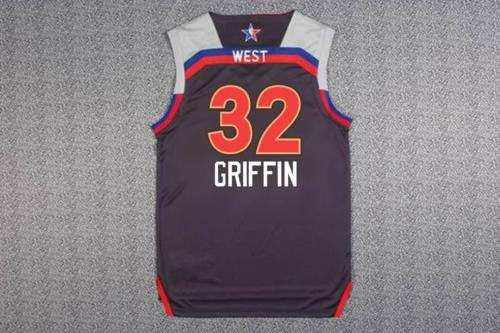 NEW 2017 Western All-Star Blake Griffin #32 Swingman Basketball Charcoal Jersey