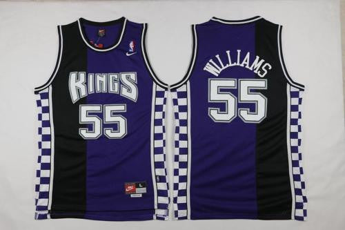 NEW Sacramento Kings Jason Williams #55 Basketball Jersey Stitched