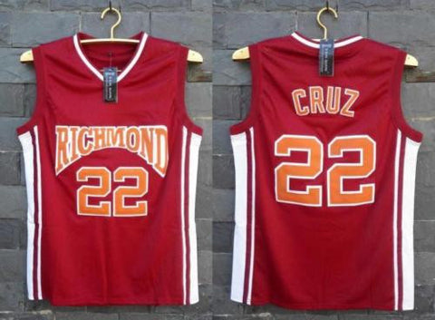 Timo Cruz #22 Richmond High Coach Carter Stitched Jersey Movie Basketball S-3XL