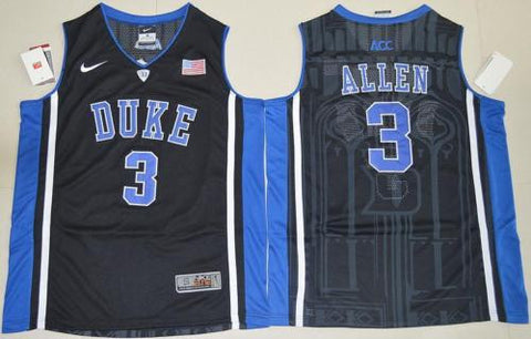 New Duke Blue Devils #3 Garyson Allen Black Men's Basketball Jersey S - XXL