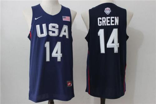 Draymond Green #14 USA Dream Team Olympic jersey BLUE Basketball