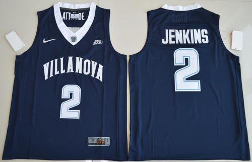 New Villanova Wildcats #2 Kris Jenkins Navy Blue Men's Basketball Jersey S - XXL
