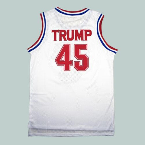 Donald Trump 45 USA Basketball Jersey 2016 Commemorative Edition White S-XXL