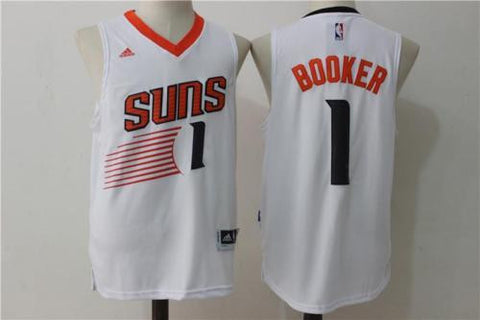 New Phoenix Suns #1 Devin Booker White Men's Basketball Jersey S - XXL