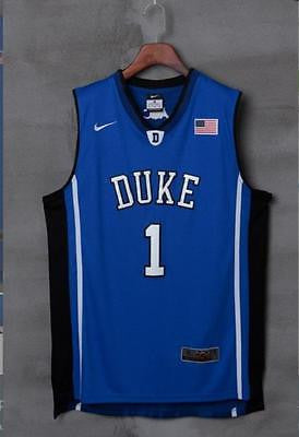 NEW #1 Kyrie Irving Duke Blue Devils Stitched BLUE Basketball Jersey New