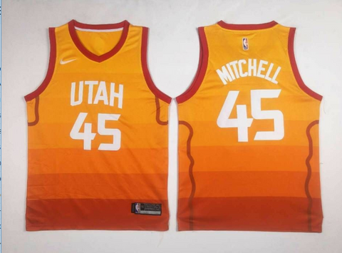 NWT men's Utah Jazz Donovan Mitchell #45. Orange Swingman Jersey S-2XL