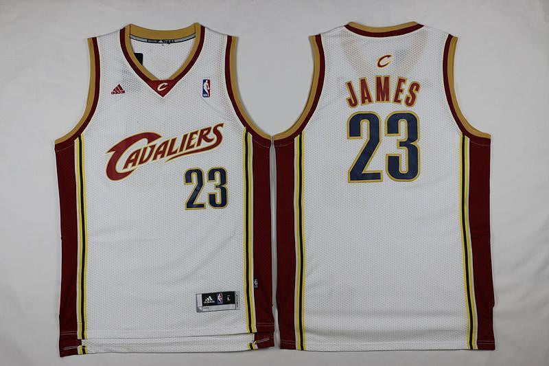 Cleveland Cavs #23 Lebron James Classics Basketball White Jersey S-XXL
