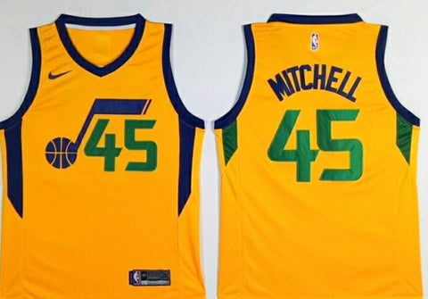 DONOVAN MITCHELL UTAH JAZZ ROOKIE #45 SWINGMAN BASKETBALL JERSEY