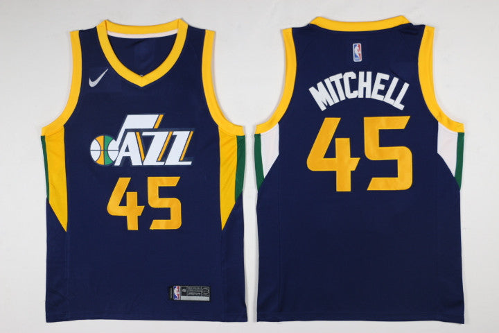 90568c78b8a1 ... promo code for new swingman jersey donovan mitchell 45 utah jazz  basketball jersey navy a5c5e 42f62