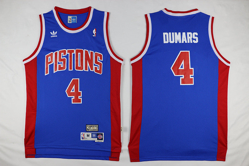 Detroit Pistons #4 Joe Dumars Basketball Blue Jersey S-XXL