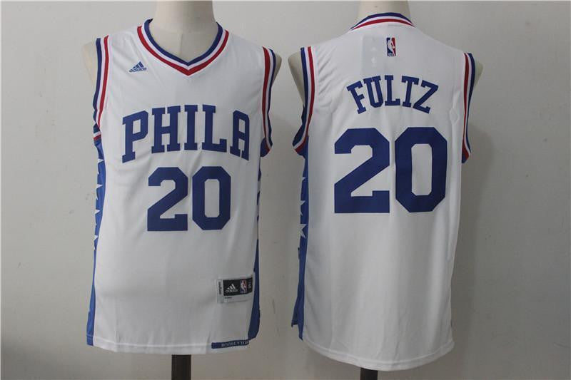 New Philadelphia 76ers Markelle Fultz #20 Men's Basketball White Jersey S - XXL