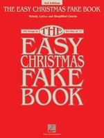 The Easy Christmas Fake Book - 3rd Edition - 100 Songs in the Key of C - Various - C Instrument Keyboard Piano Hal Leonard Fake Book Spiral Bound
