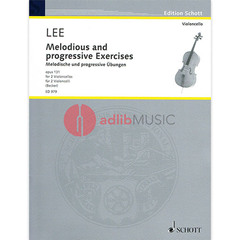 Melodious and Progressive Exercises for 2 Cellos - Opus 131 - Sebastian Lee - Schott