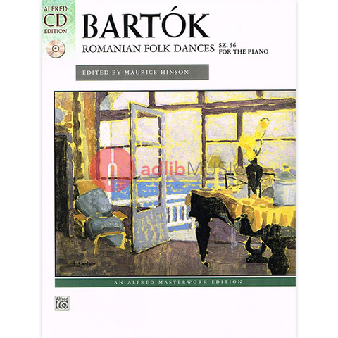 Bartok Romanian Folk Dances Sz 56 for the Piano Book/CD - Bela Bartok