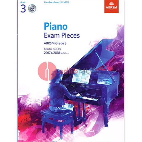 ABRSM Piano Exam Pieces Gr 3 2017-2018 Book/CD - ABRSM - ABRSM