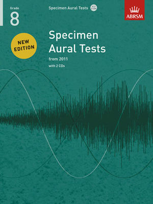 Specimen Aural Tests, Grade 8 with 2 CDs - new edition from 2011 - ABRSM - ABRSM /CD - Adlib Music