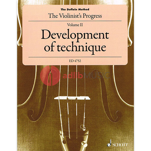 The Doflein Method Volume 2 - Development of technique - Violin - Elma Doflein|Erich Doflein - Schott Music