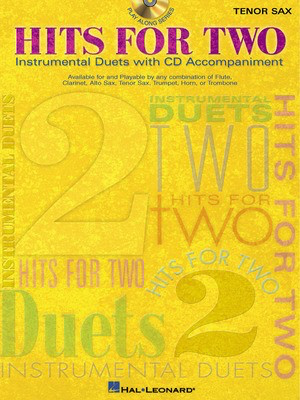 Hits for Two - Tenor Sax - Various - Tenor Saxophone Hal Leonard /CD