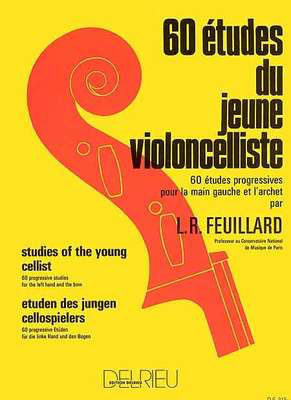 Studies Of The Young Cellist 60 - Louis Feuillard - Cello Delrieu Cello Solo - Adlib Music