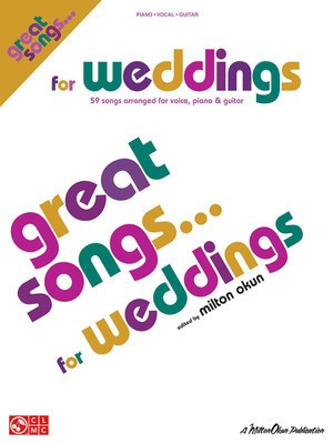 Great Songs for Weddings - Piano/Vocal/Guitar Songbook - Various - Guitar|Piano|Vocal Various Cherry Lane Music Piano, Vocal & Guitar