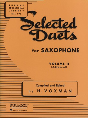 Selected Duets for Saxophone - Volume 2 - Advanced - Various - Saxophone Rubank Publications Saxophone Duet