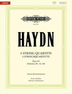 String Quartets Op. 64 Hob. III 63-68 - Joseph Haydn - Edition Peters String Quartet Score/Parts