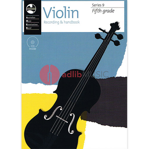Violin Series 9 - Recording and Handbook Fifth Grade - Violin AMEB /CD