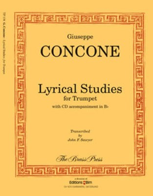 Lyrical Studies for Trumpet - Giuseppe Concone - Trumpet Brass Press /CD