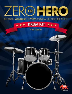 Zero To Hero Drum Kit - Drums Sasha Music Publishing Softcover