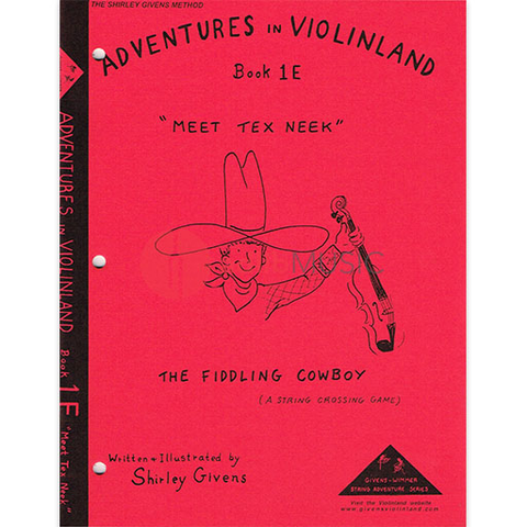 Adventures in Violinland Book 1E - Meet Tex Neek - Shirley Givens - Seesaw Music