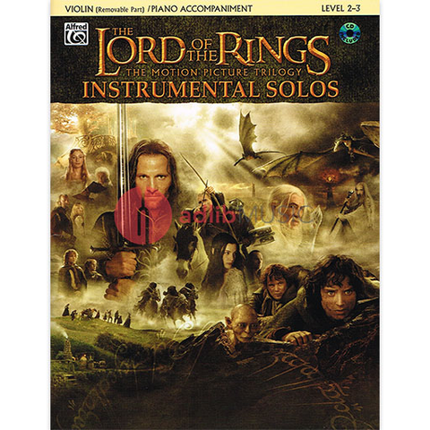 The Lord of the Rings Instrumental Solos- Violin Book/CD - Howard Shore - Alfred Music