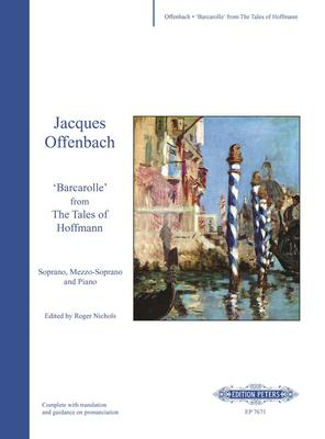 Barcarolle From Tales of Hoffmann - Jacques Offenbach - Classical Vocal Soprano|Mezzo-Soprano Edition Peters Vocal Duet