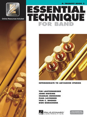 Essential Technique For Band Bk3 Trumpet Eei - Bb Trumpet - Trumpet Various Hal Leonard /CD - Adlib Music