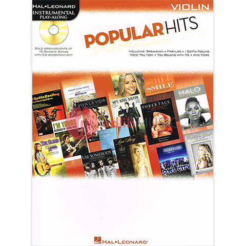 Popular Hits - Instrumental Play-Along - Book/CD - Violin - Hal Leonard