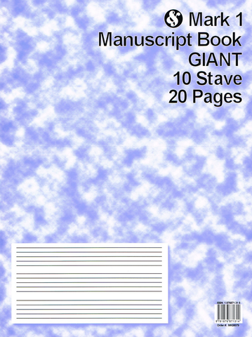 MANUSCRIPT 20 PAGE 10 STAVE GIANT - Music Sales