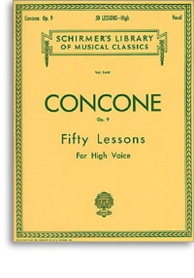 50 Lessons, Op. 9 - High Voice - Giuseppe Concone - Classical Vocal High Voice G. Schirmer, Inc. - Adlib Music