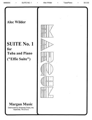 Suite No. 1 (Effie Suite) - Tuba in C (B.C.) and Piano - Alec Wilder - Tuba Margun Music