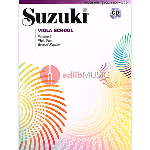 Suzuki Viola School Volume 4 Bk/CD - Suzuki Shinichi - Alfred Music