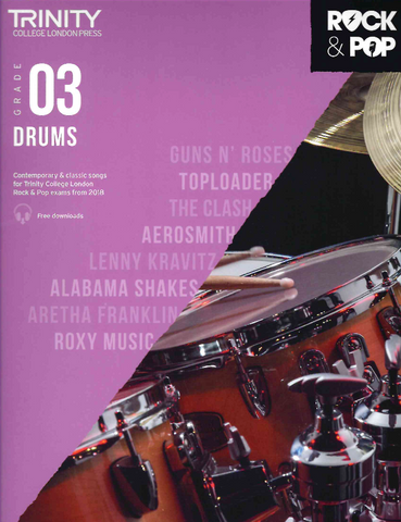 Trinity Rock & Pop Drums Grade 3 From 2018 - Drums Trinity College TCL017017